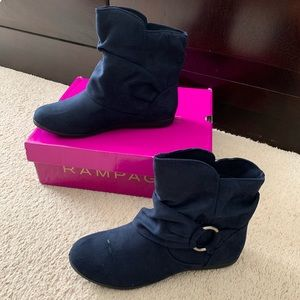 Rampage Blue Bowers Ankle Boots Sz 6